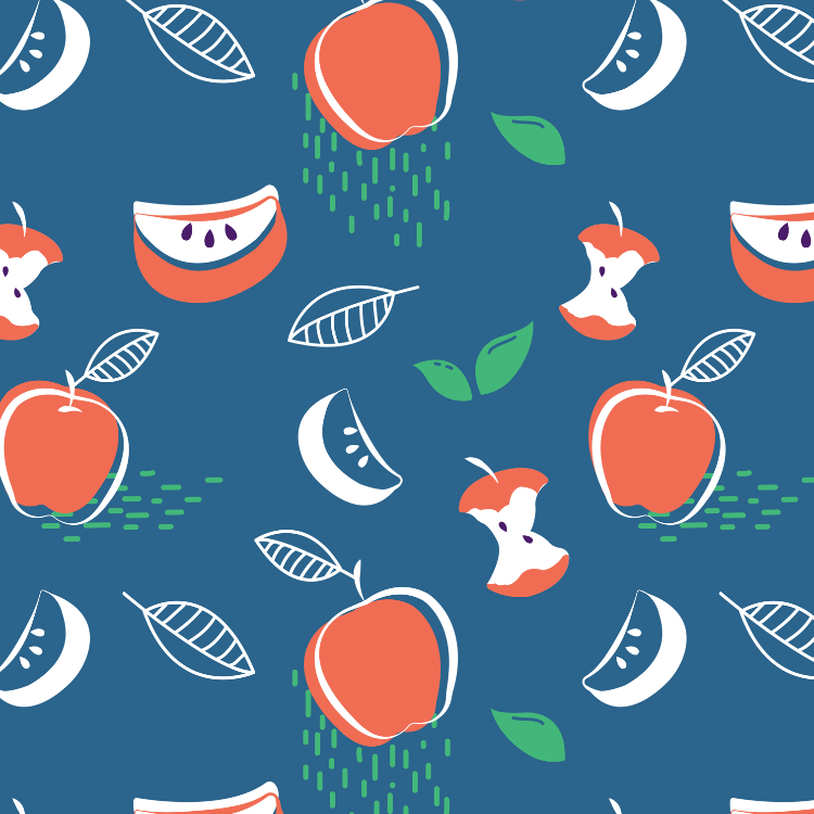 Fruit pattern - Red apples
